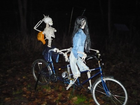 Skeleton Bicycle built for Two